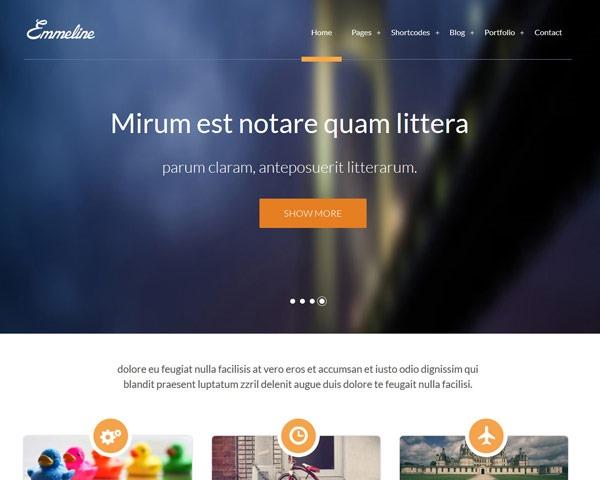 emmerline 50 best free html responsive templates