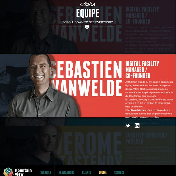 equipe thumb 50 Mind blowing examples of parallax website designs