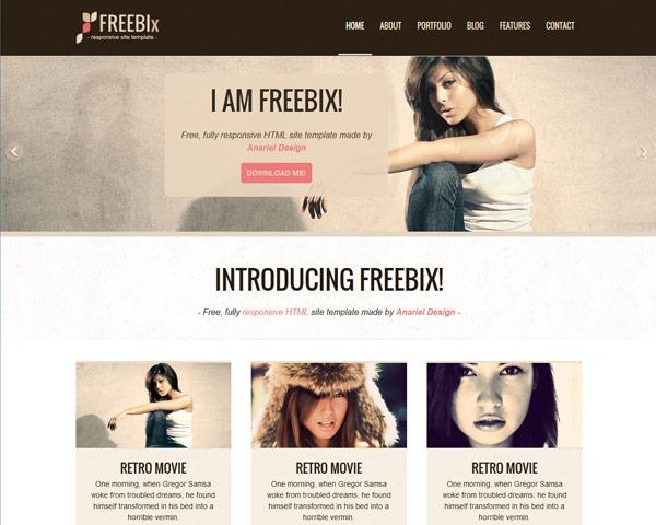 freebix thumb 50 best free html responsive templates