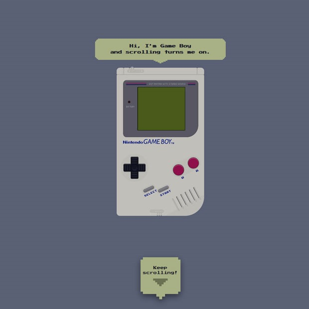 gameboy 50 Mind blowing examples of parallax website designs