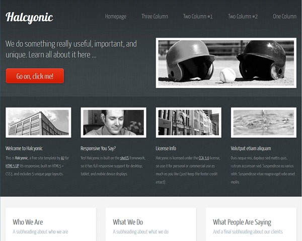 halcynoic thumb 50 best free html responsive templates
