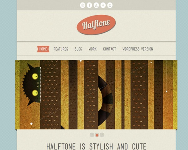 halftone thumb 50 best free html responsive templates