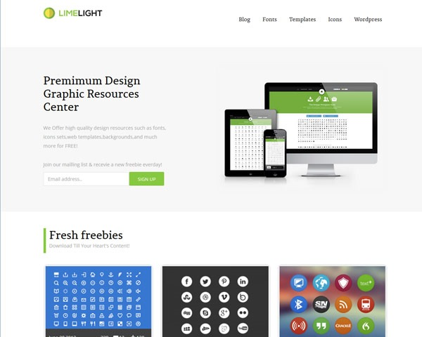 limelight 50 best free html responsive templates