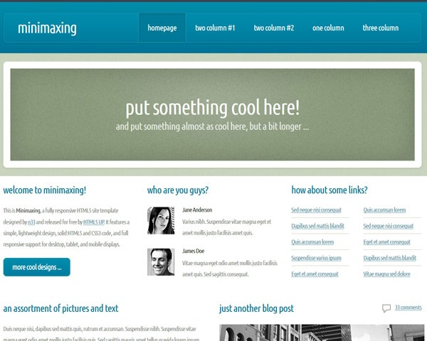 minmaxing thumb 50 best free html responsive templates
