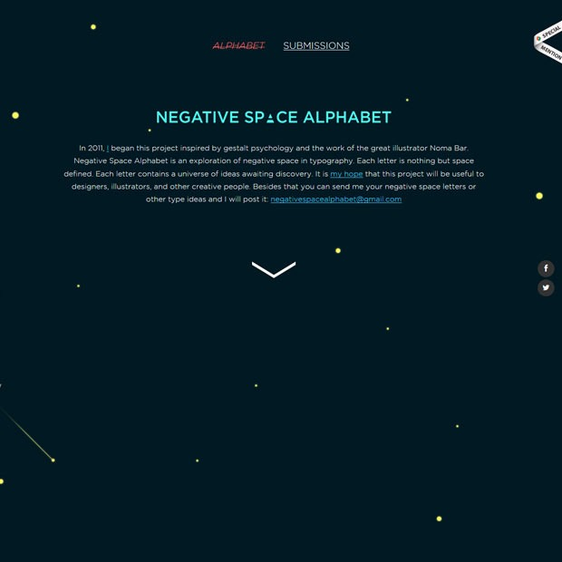 negative space 50 Mind blowing examples of parallax website designs
