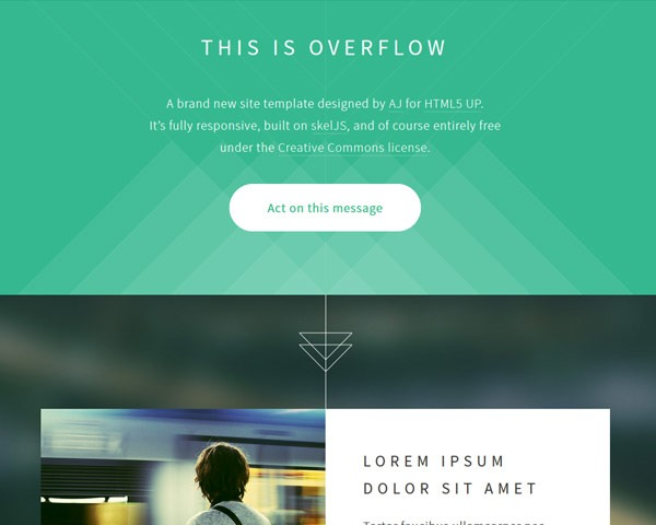 overflow thumb 50 best free html responsive templates