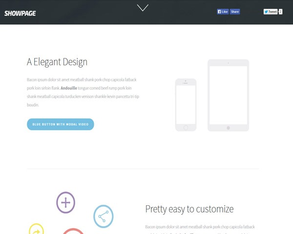 showpage thumb 50 best free html responsive templates