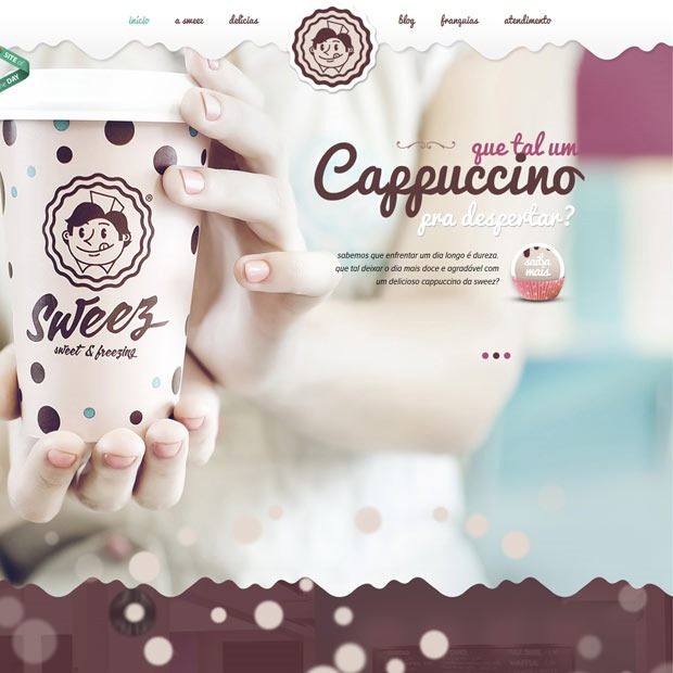 sweez thumb 50 Mind blowing examples of parallax website designs