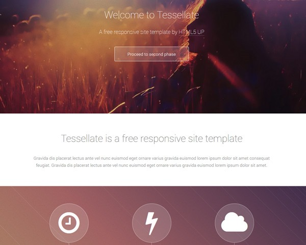tesselate 50 best free html responsive templates