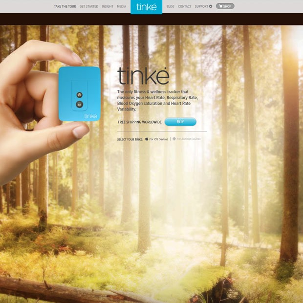 tinkie 50 Mind blowing examples of parallax website designs