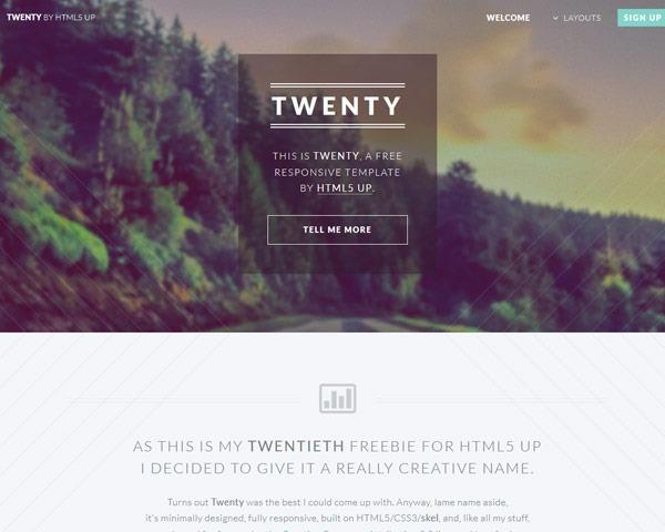 twenty thumb 50 best free html responsive templates
