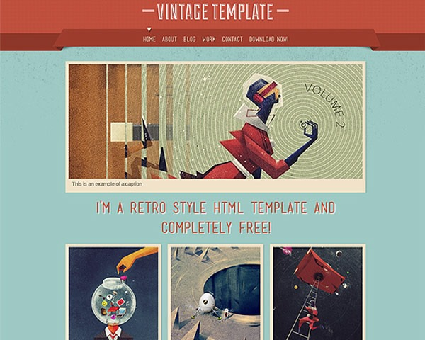 vintage thumb 50 best free html responsive templates