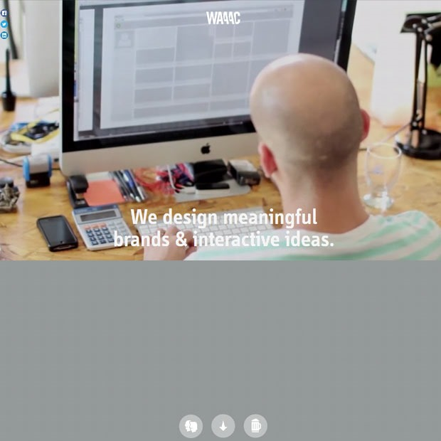 waaac thumb 50 Mind blowing examples of parallax website designs