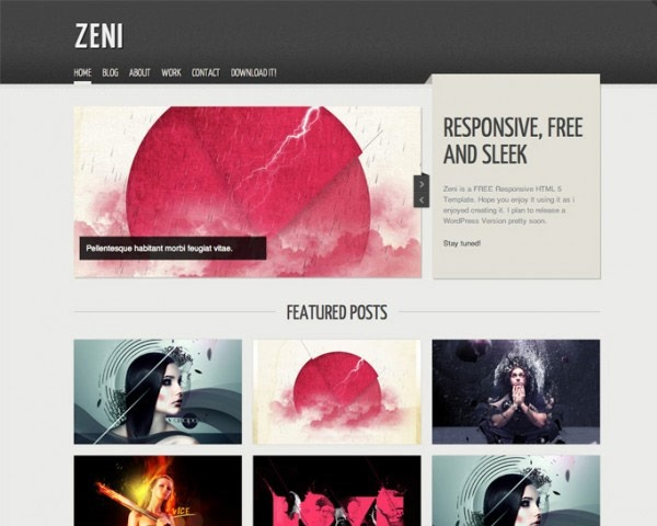 zeni 50 best free html responsive templates