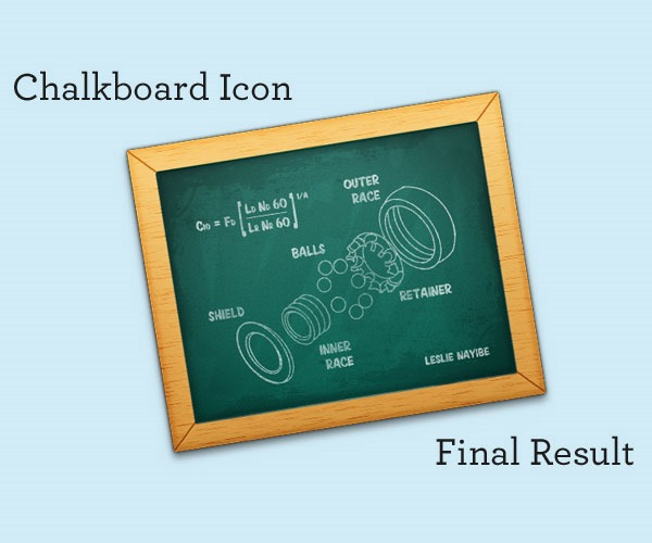 chalkboard thumb 50 Photoshop tutorials for creating amazing icons