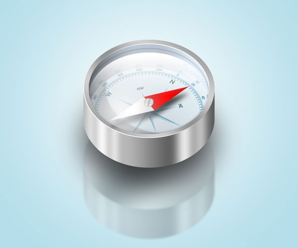 compass icon 50 Photoshop tutorials for creating amazing icons