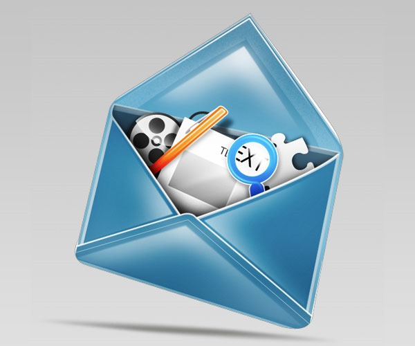mail icon 50 Photoshop tutorials for creating amazing icons