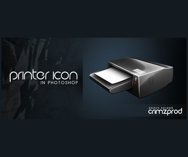 printer icon thumb 50 Photoshop tutorials for creating amazing icons