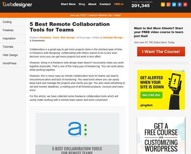 1st webdesigner 20 Blogs every web designer should be reading