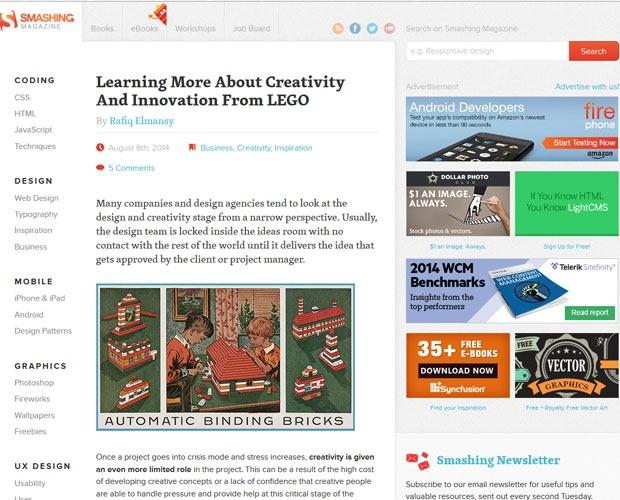 SMASHING MAGAZINE 20 Blogs every web designer should be reading