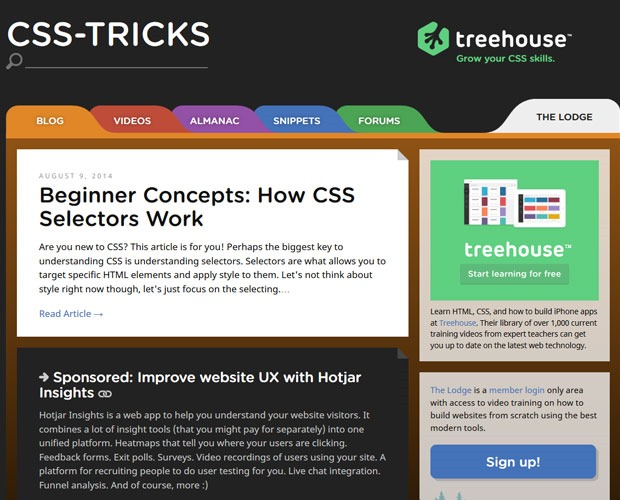 css tricks 20 Blogs every web designer should be reading