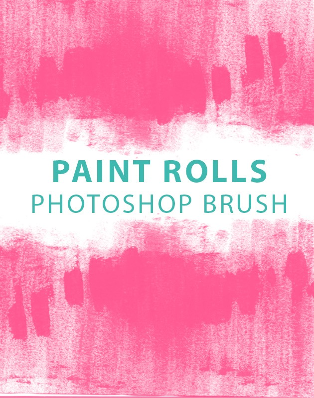 paint rolls thumb 10 best free Photoshop brushes you must download