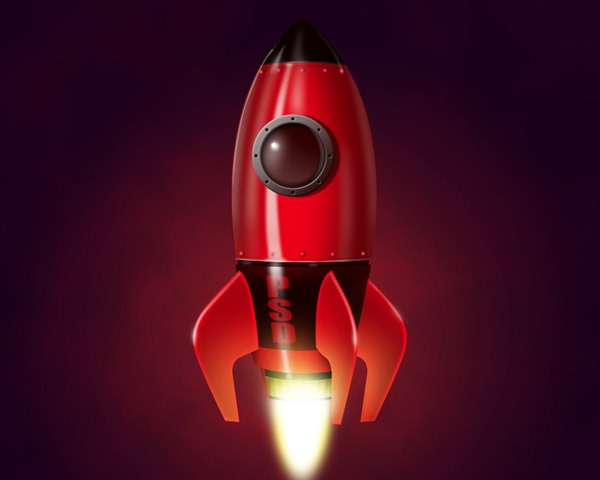 rocket illustration Best of the web and design in August 2014