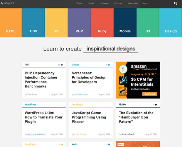 sitepoint 20 Blogs every web designer should be reading
