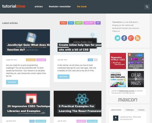 tutorailzone 20 Blogs every web designer should be reading