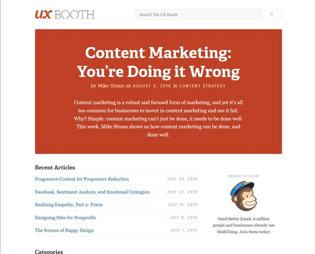 ux booth 20 Blogs every web designer should be reading