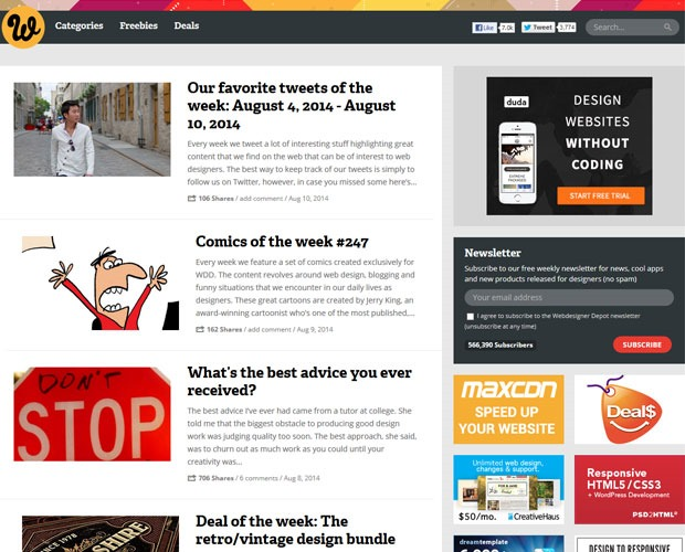 webdesign depot 20 Blogs every web designer should be reading