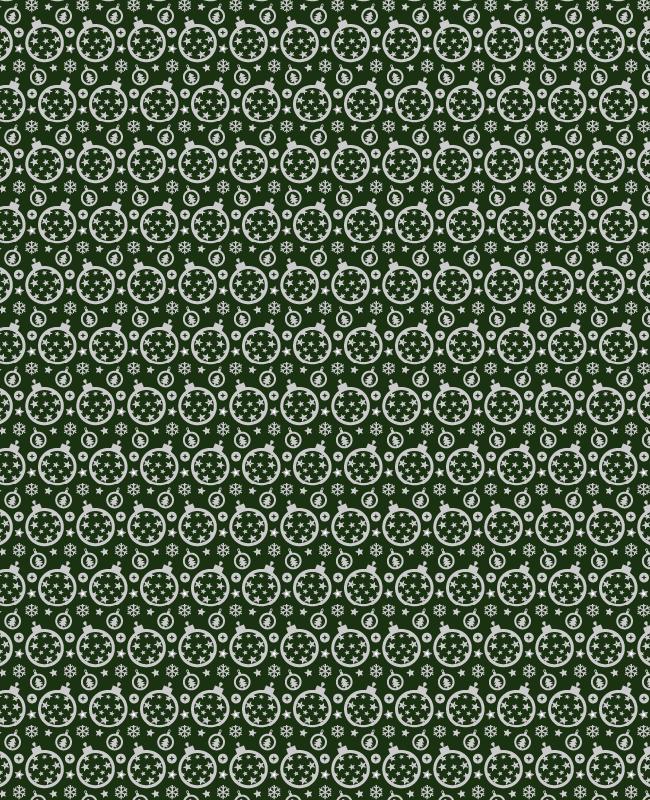 green christmas Festive Christmas ornament seamless vector pattern
