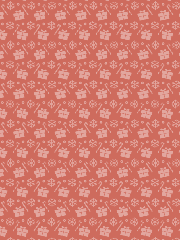 light red Christmas presents and candy free seamless vector pattern