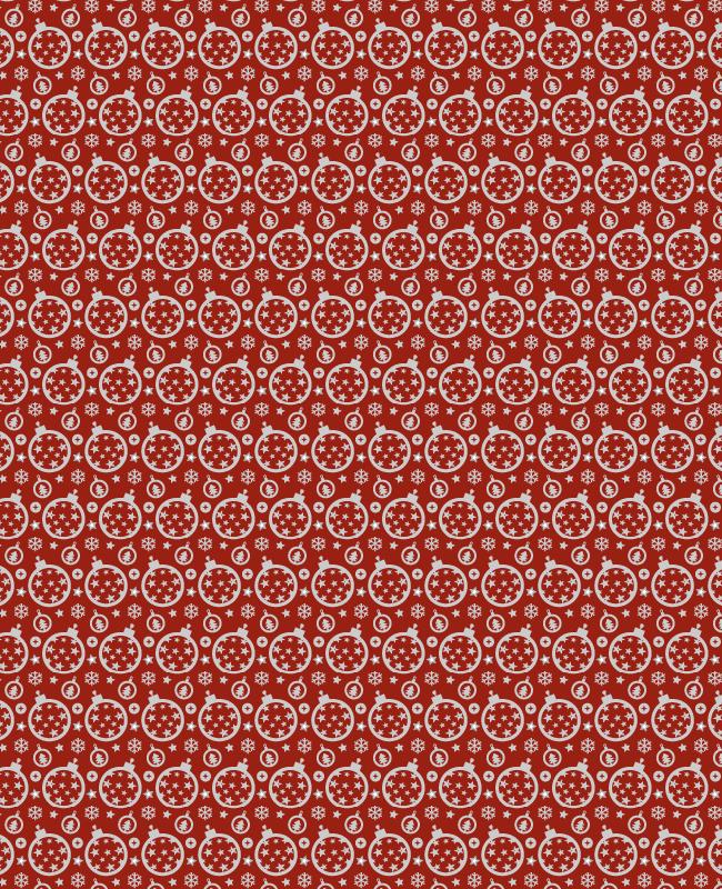 red christmas Festive Christmas ornament seamless vector pattern