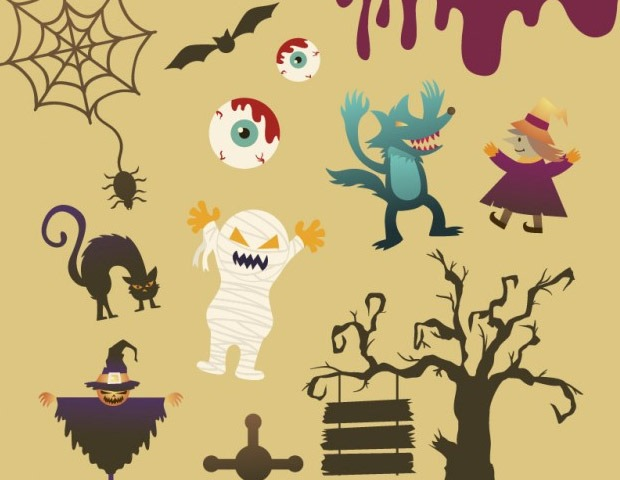 halloween cartoon characters thumb5 40 Essential Halloween vectors and icons