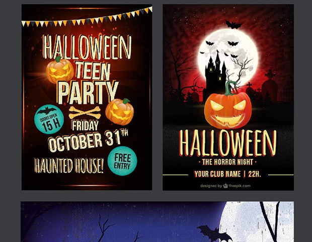 halloween flyer thumb2 40 Essential Halloween vectors and icons