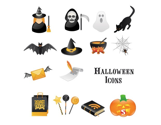 halloween icons 40 Essential Halloween vectors and icons