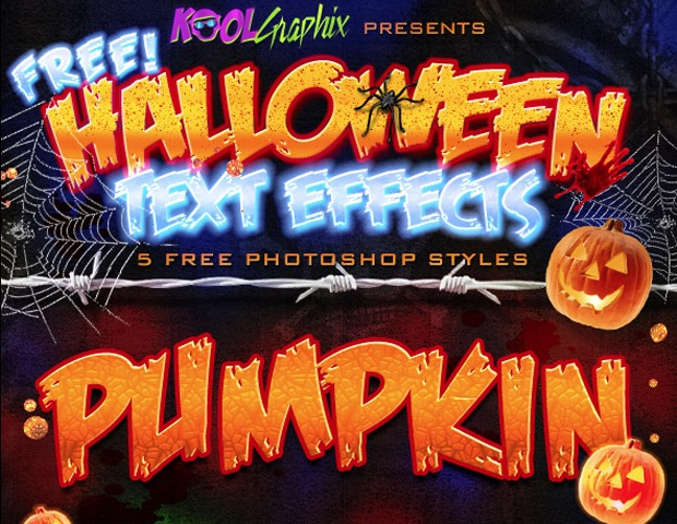 halloween text styles thumb1 40 Essential Halloween vectors and icons
