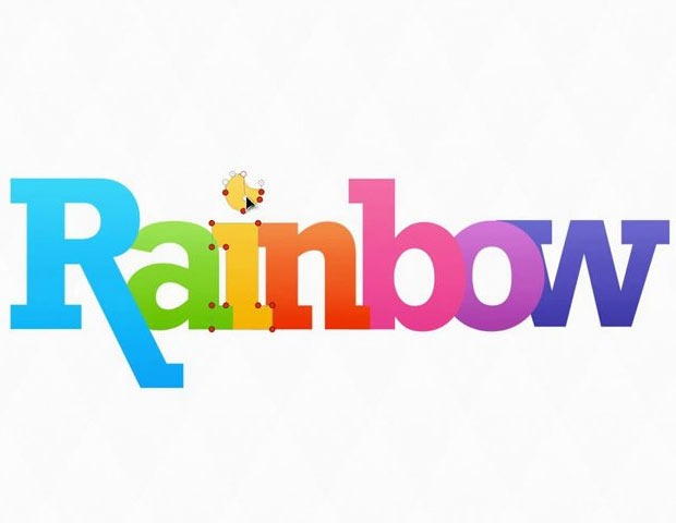 rainbow text1 20 tutorials for learning and mastering Pixelmator