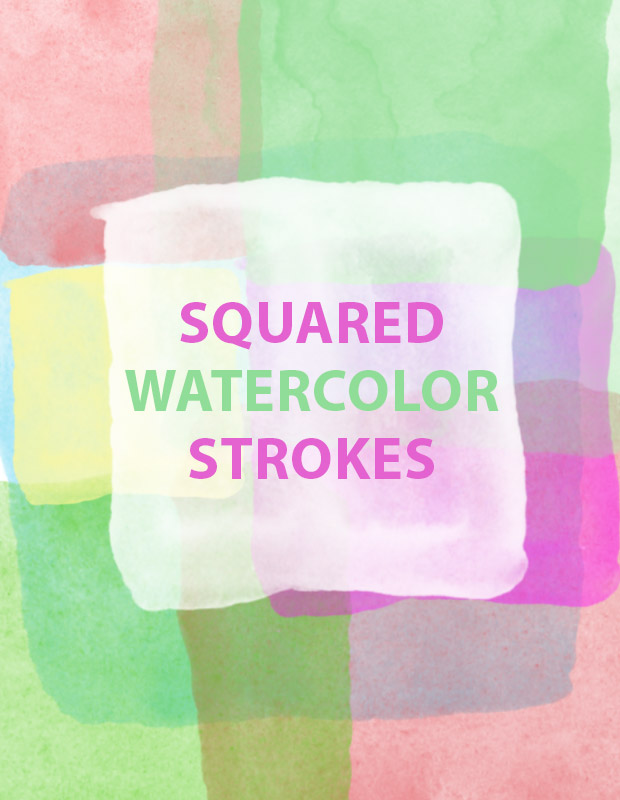 squared watercolor strokes Squared watercolour paint strokes free Photoshop brush set