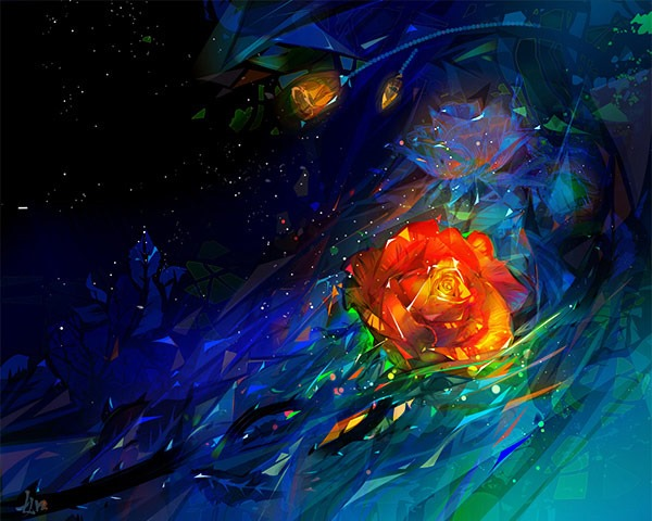 rose background 60 Best illustrator tutorials from 2014