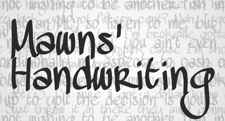 mawns thumb 20 best hand drawn free fonts