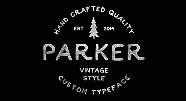 parker 20 best hand drawn free fonts