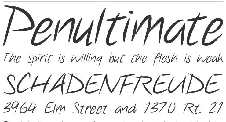 penulrimate 20 best hand drawn free fonts