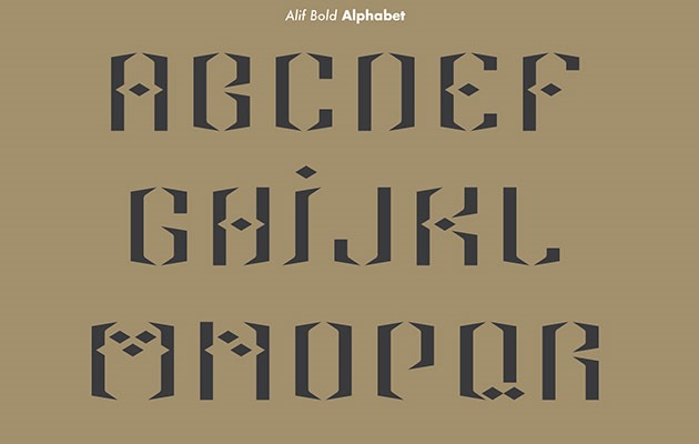 alif 40 Best free fonts from 2015
