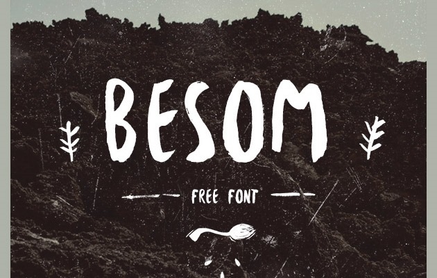 besom 40 Best free fonts from 2015