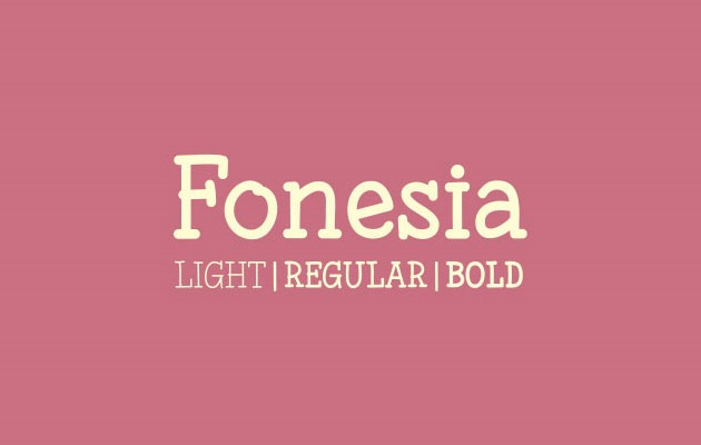 fonesia 40 Best free fonts from 2015
