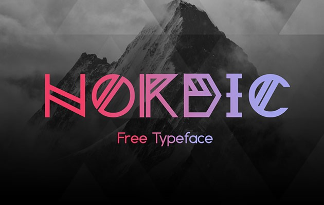 nordic thumb 40 Best free fonts from 2015