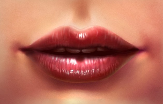 realistic lip illustration thumb Best Of The Web And Design In February 2015
