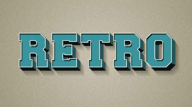 3d retro thumb1 20 fresh new Photoshop tutorials from 2015